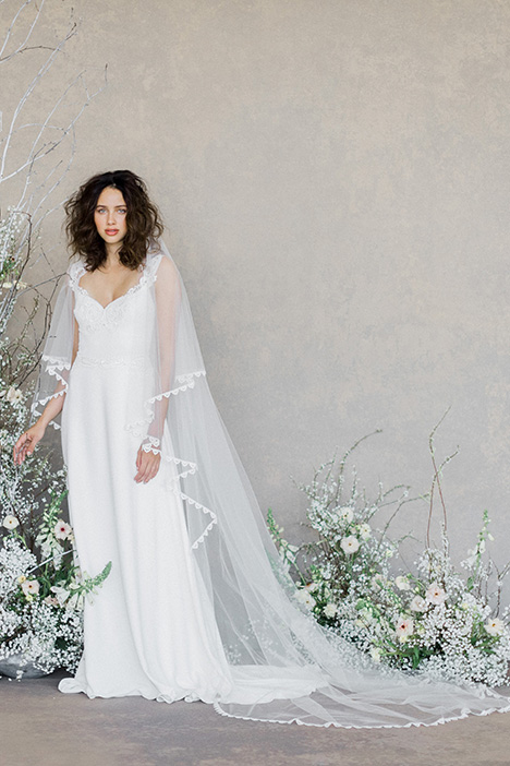 Swan (+ cape) gown from the 2019 Claire Pettibone: Romantique collection, as seen on Bride.Canada