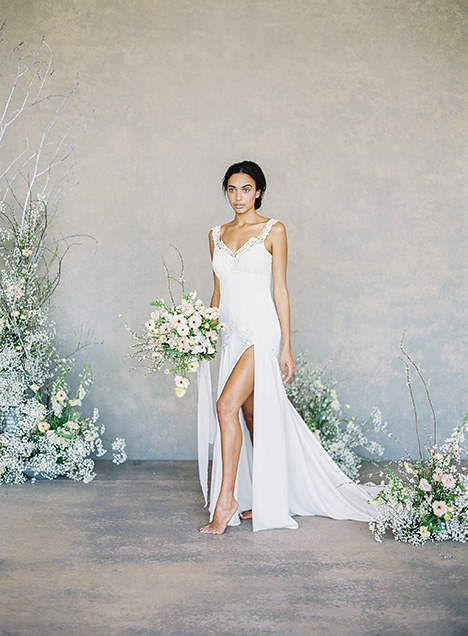 Angel gown from the 2019 Claire Pettibone: Romantique collection, as seen on Bride.Canada