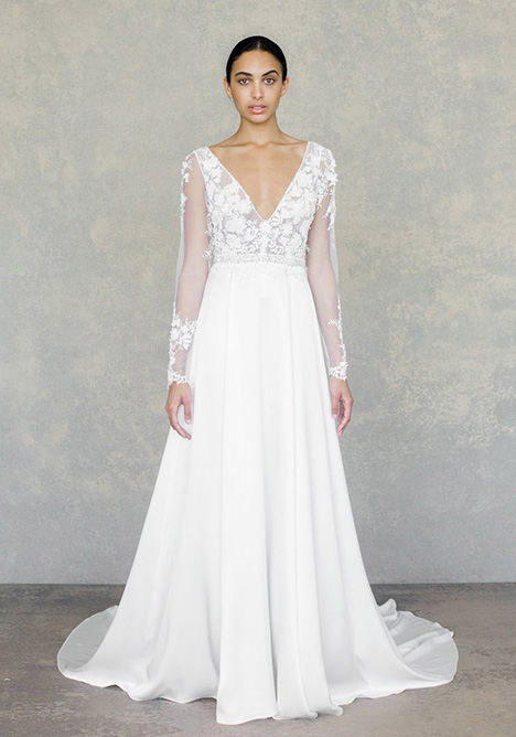 Santorini gown from the 2019 Claire Pettibone: Couture collection, as seen on Bride.Canada