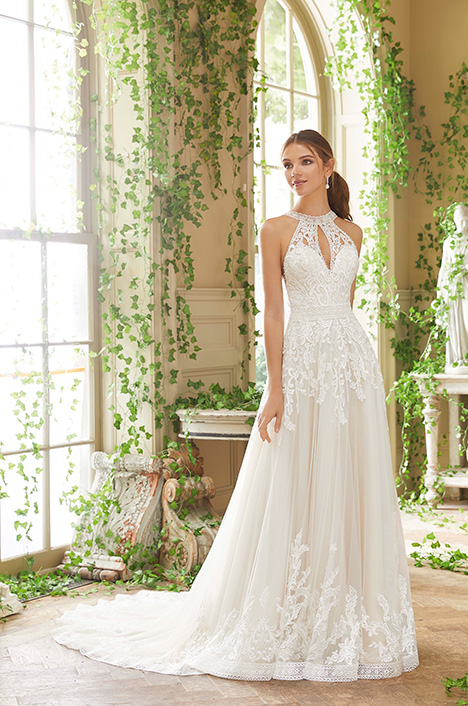 5708 gown from the 2019 Morilee Blu collection, as seen on Bride.Canada