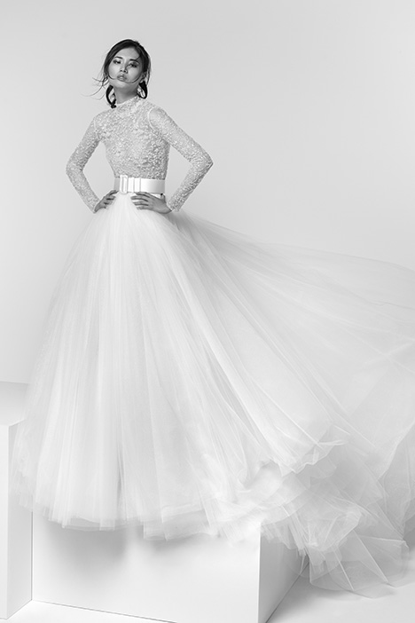 ARTP19745 + ARSK19745 gown from the 2019 Alessandra Rinaudo collection, as seen on Bride.Canada