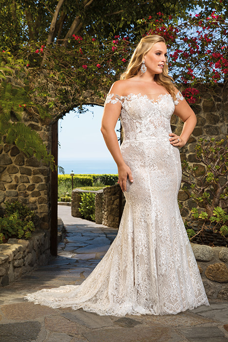 Ella + gown from the 2019 Casablanca Bridal collection, as seen on Bride.Canada