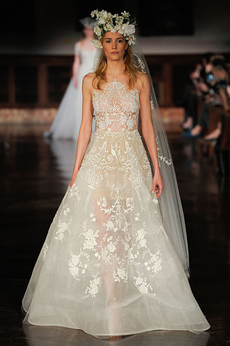 Blessed Beauty gown from the 2019 Reem Acra collection, as seen on Bride.Canada