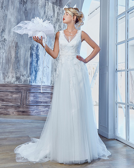 AT6677 gown from the 2019 Venus Bridal: Angel & Tradition collection, as seen on Bride.Canada