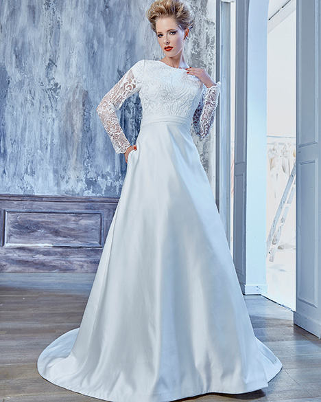 TB7775 gown from the 2019 Venus Modest collection, as seen on Bride.Canada