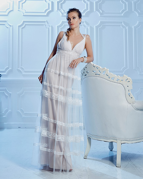 VN6980 gown from the 2019 Venus Informal collection, as seen on Bride.Canada