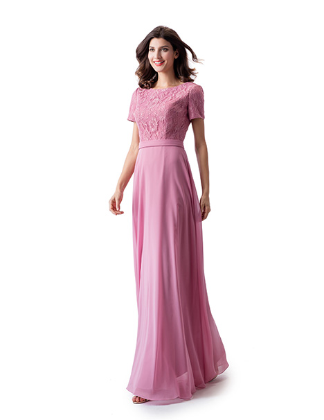 TM1825 gown from the 2019 Venus Modest Maids collection, as seen on Bride.Canada