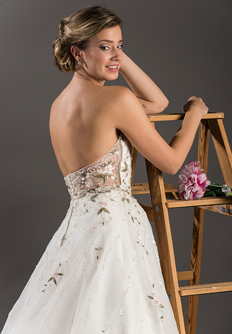 gp1090 (back) gown from the 2017 Grace by Bridalane collection, as seen on Bride.Canada