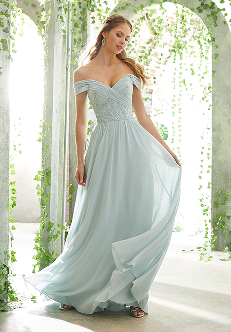 21614 gown from the 2019 Morilee Bridesmaids collection, as seen on Bride.Canada