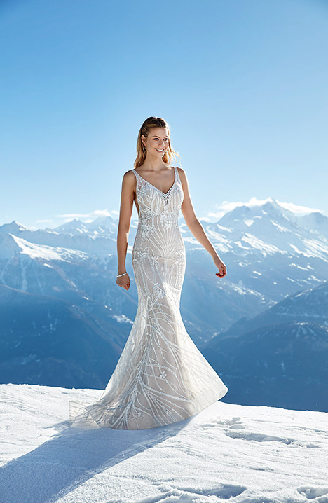 SKY144 gown from the 2019 Eddy K Sky collection, as seen on Bride.Canada