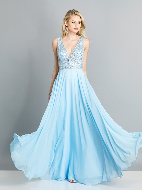 7926 gown from the 2019 Dave & Johnny Special Occasions collection, as seen on Bride.Canada
