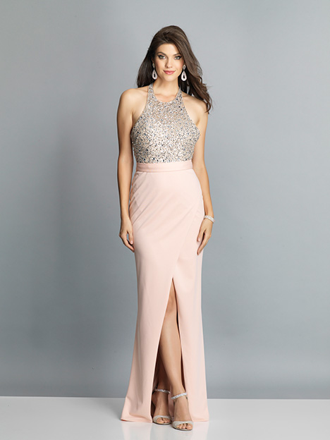 7866 gown from the 2019 Dave & Johnny Special Occasions collection, as seen on Bride.Canada