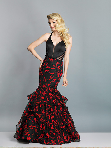 7669 gown from the 2019 Dave & Johnny Special Occasions collection, as seen on Bride.Canada