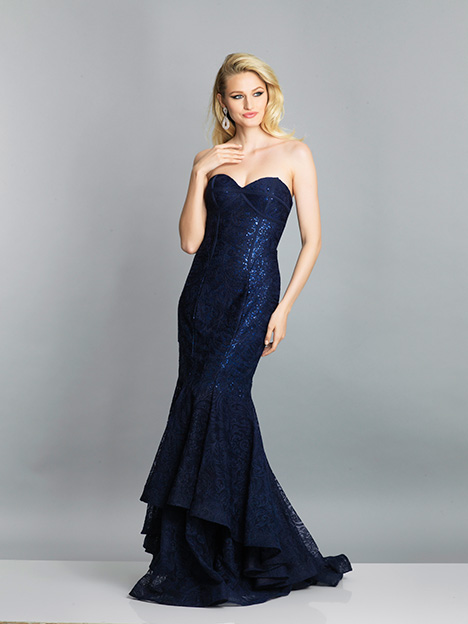 7594 gown from the 2019 Dave & Johnny Special Occasions collection, as seen on Bride.Canada