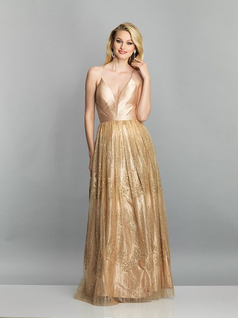 7553 gown from the 2019 Dave & Johnny Special Occasions collection, as seen on Bride.Canada