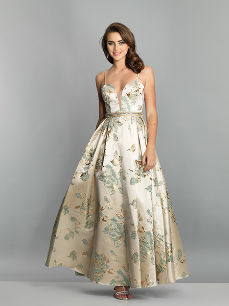 7549 gown from the 2019 Dave & Johnny Special Occasions collection, as seen on Bride.Canada