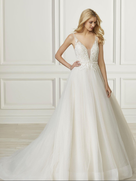 31102 gown from the 2019 Adrianna Papell collection, as seen on Bride.Canada