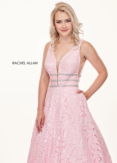 6443 (pink) gown from the 2019 Rachel Allan collection, as seen on Bride.Canada