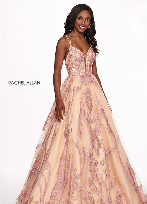 6537 gown from the 2019 Rachel Allan collection, as seen on Bride.Canada