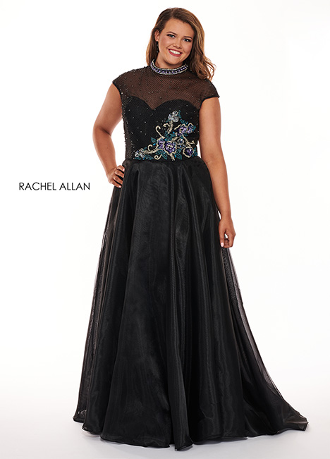6661 (black) gown from the 2019 Rachel Allan : Curves collection, as seen on Bride.Canada