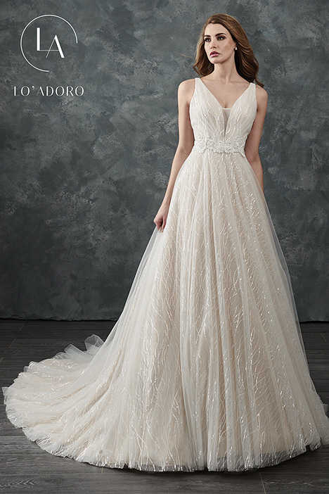 M651 gown from the 2018 Lo' Adoro collection, as seen on Bride.Canada