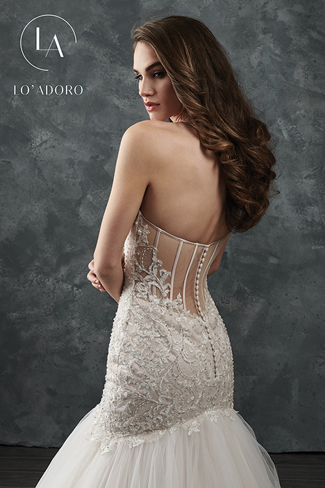 M652 (back) gown from the 2018 Lo' Adoro collection, as seen on Bride.Canada