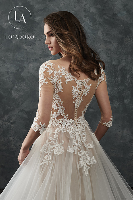 M657 (back) gown from the 2018 Lo' Adoro collection, as seen on Bride.Canada