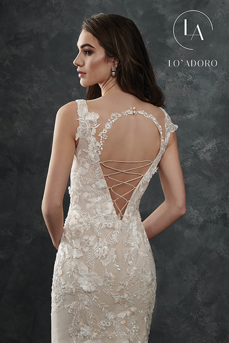 M665 (back) gown from the 2018 Lo' Adoro collection, as seen on Bride.Canada
