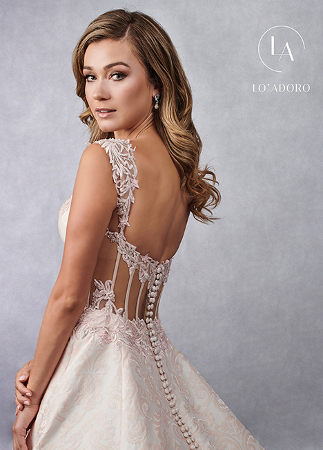 M682 (back) gown from the 2019 Lo' Adoro collection, as seen on Bride.Canada