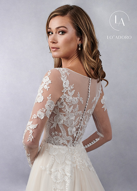 M684 (back) gown from the 2019 Lo' Adoro collection, as seen on Bride.Canada