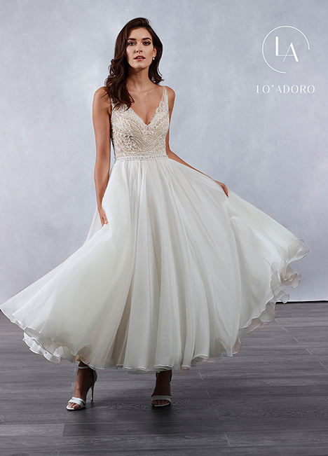 M691 gown from the 2019 Lo' Adoro collection, as seen on Bride.Canada