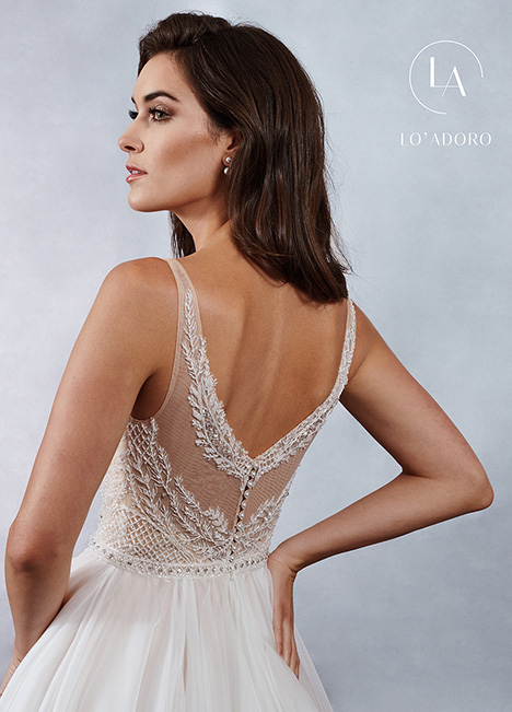 M691 (back) gown from the 2019 Lo' Adoro collection, as seen on Bride.Canada