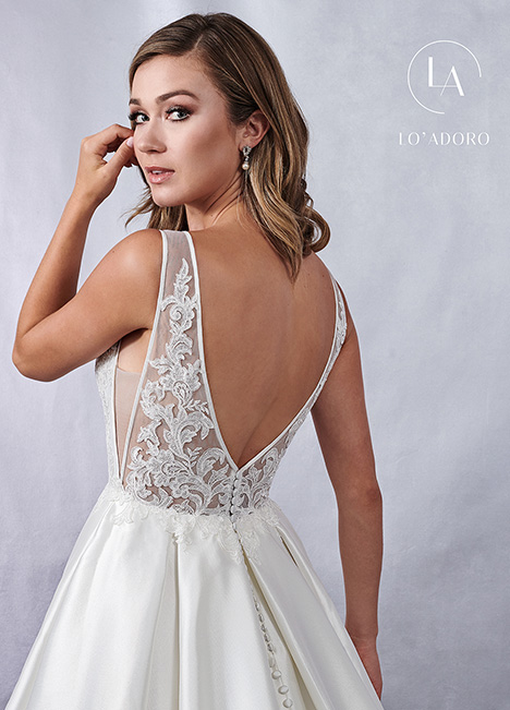 M696 (back) gown from the 2019 Lo' Adoro collection, as seen on Bride.Canada