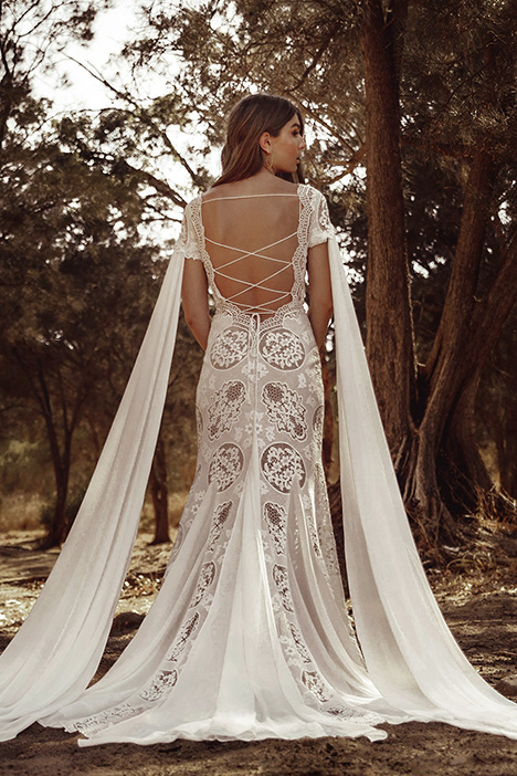 WA 260 Back gown from the 2019 White April collection, as seen on Bride.Canada