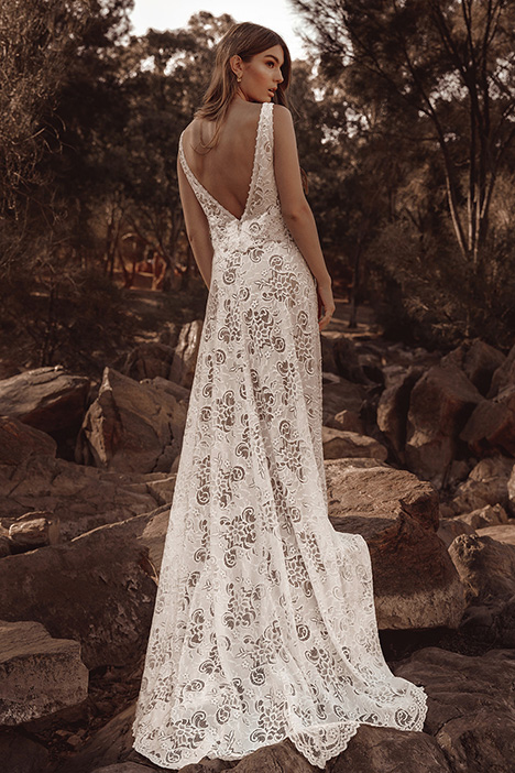 WA 263 Back gown from the 2019 White April collection, as seen on Bride.Canada