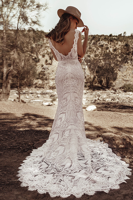 WA 6089 Back gown from the 2019 White April collection, as seen on Bride.Canada