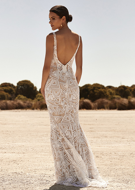 ZB231D Back gown from the 2019 Zavana Bridal collection, as seen on Bride.Canada