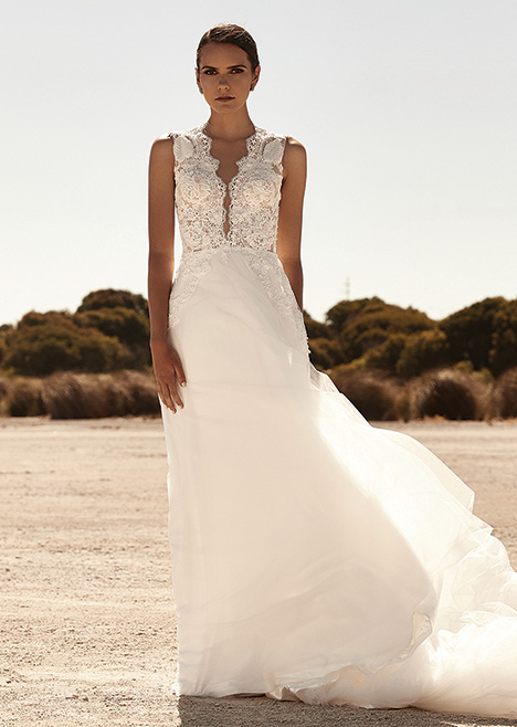 ZB 303 gown from the 2019 Zavana Bridal collection, as seen on Bride.Canada