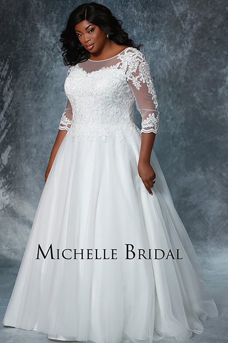 MB 1911 gown from the 2019 Michelle Bridal+ collection, as seen on Bride.Canada