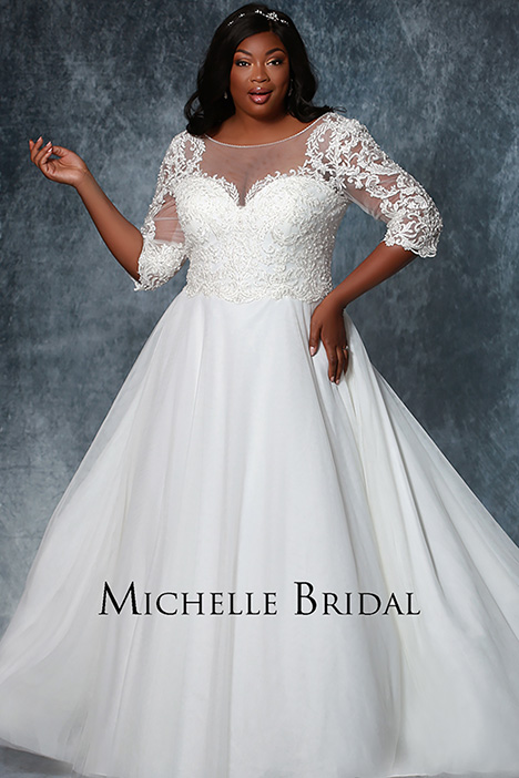 MB 1925 gown from the 2019 Michelle Bridal+ collection, as seen on Bride.Canada