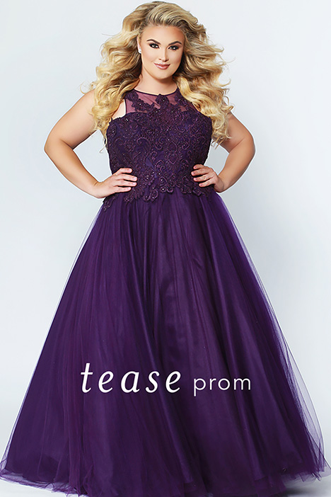TE 1823 Plum gown from the 2019 Tease Prom+ collection, as seen on Bride.Canada