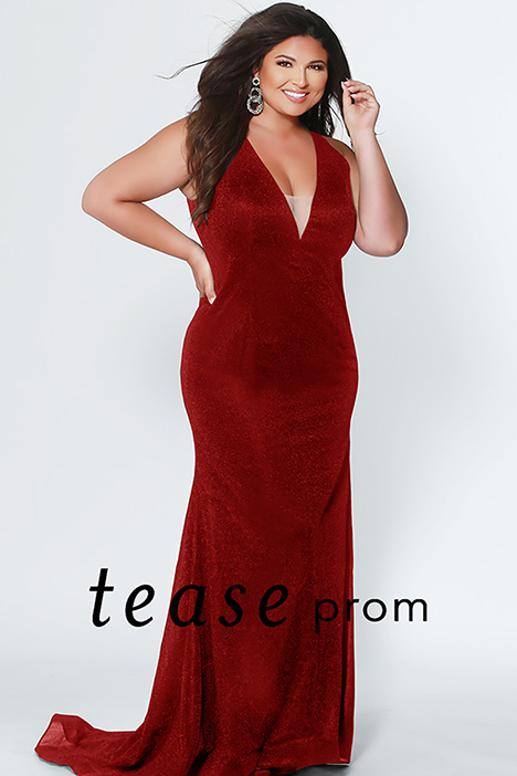 TE 1911 Red gown from the 2019 Tease Prom+ collection, as seen on Bride.Canada