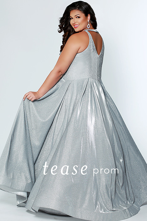 TE 1924 Silver Back gown from the 2019 Tease Prom+ collection, as seen on Bride.Canada