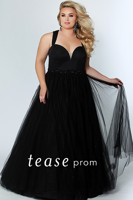 TE 1925 Black gown from the 2019 Tease Prom+ collection, as seen on Bride.Canada