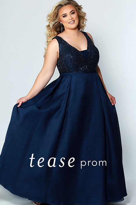 TE 1950 Blue gown from the 2019 Tease Prom+ collection, as seen on Bride.Canada