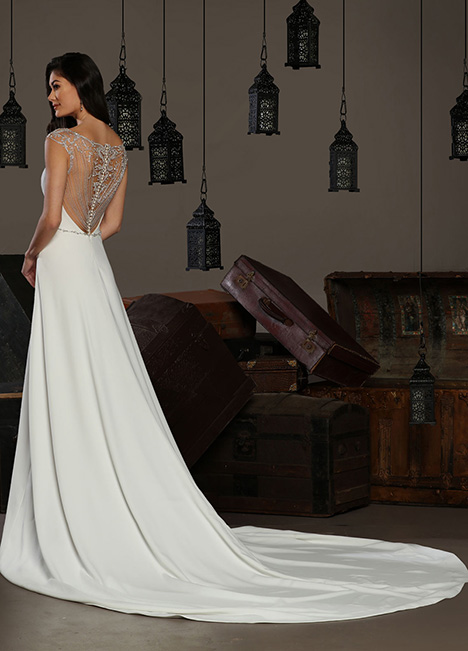 13166 Back gown from the 2019 Cristiano Lucci collection, as seen on Bride.Canada
