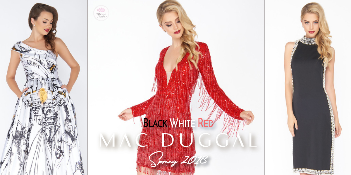 Mac Duggal : Black White Red