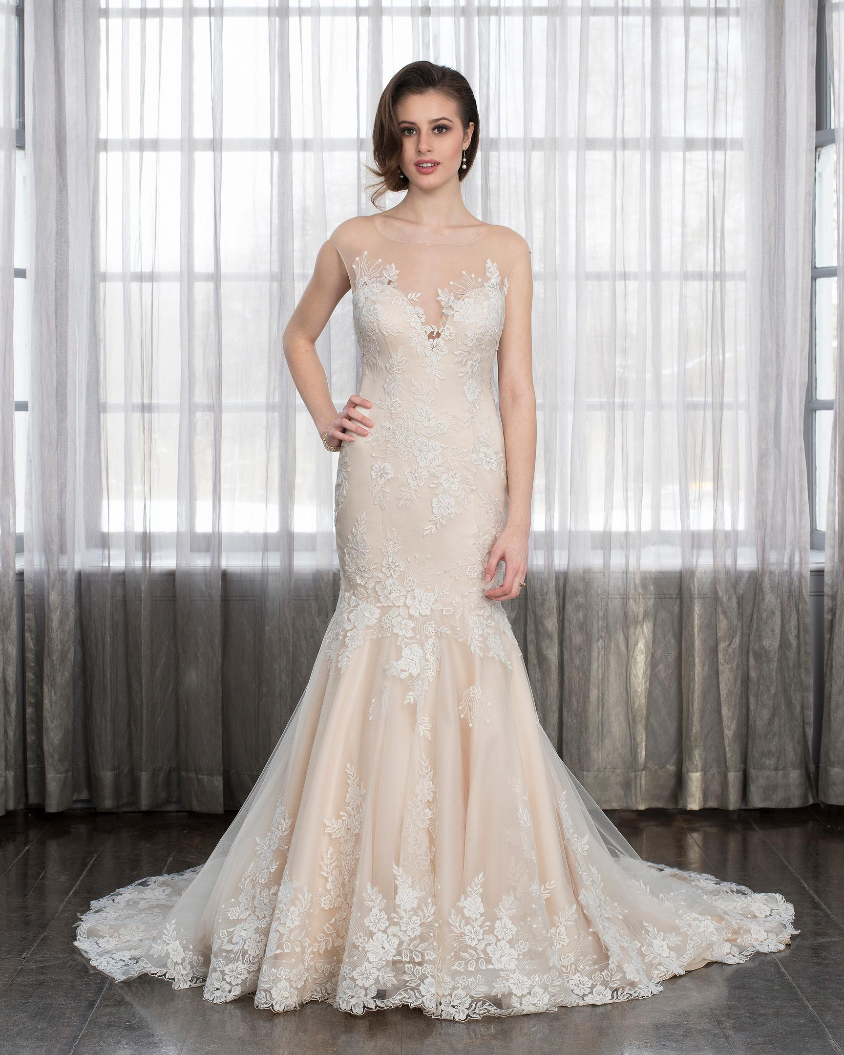 Style 20 Wedding Dress by Romantic Bridals Hearts Desire   The ...