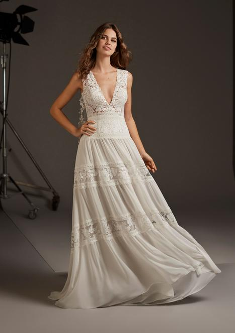 Capella Wedding                                          dress by Pronovias