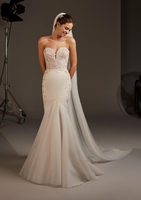 Halo Wedding                                          dress by Pronovias